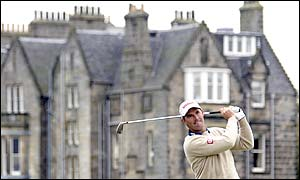 Ireland's Padraig Harrington tees off at St Andrews as he hopes to continue his good form