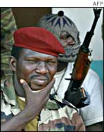 Rebel commander in the northern town of Korhogo