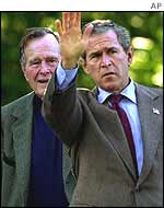 George W Bush and George Bush snr