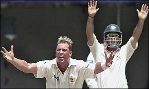 Shane Warne has now taken 461 Test wickets