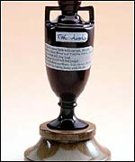 The Ashes Urn stands just four inches high