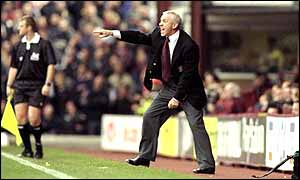 Peter Reid in typically vociferous mode on the touchline