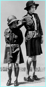 Queen Elizabeth and Princess Margaret were Brownies in 1937