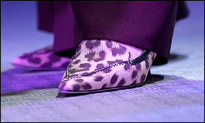 Theresa May's leopard-skin kitten heels
