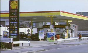 shell petrol station forecourt price sign