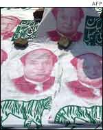 Banners of Nawaz Sharif