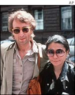 John Lennon and Yoko Ono in 1980
