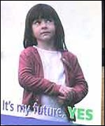 A referendum poster in Ireland