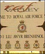 Welcome sign at RAF Valley