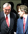 Bertie Ahern (left) and Tony Blair