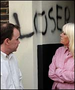 Mark and Pauline Fowler from BBC soap opera EastEnders