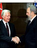 Jimmy Carter meets Fidel Castro
