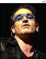 Bono at a concert in Germany
