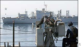 Two US ship on Operation Eager Mace 2002