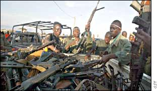 Rebel soldiers in Bouake