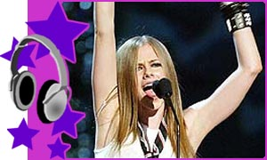 Avril at the MTV Awards