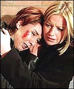 Brookside actresses Claire Sweeney and Alexandra Fletcher