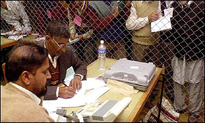 Vote counting in Kashmir