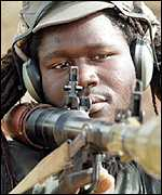 Senegalese soldier