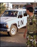 UN weapons inspectors in Baghdad, 1998