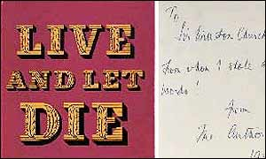 Live and Let Die first edition