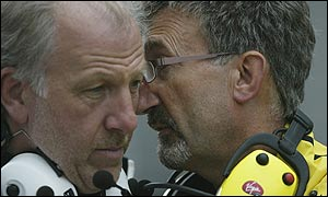 BAR boss David Richards (left) and Jordan owner Eddie Jordan