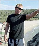 Guy Ritchie on the set of Swept Away