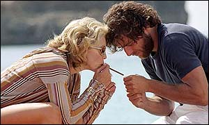 Amber (Madonna) and Giuseppe (Adriano Giannini) in Swept Away