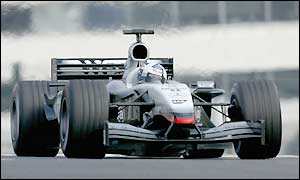 David Coulthard in the McLaren