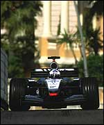 David Coulthard on his way to victory in Monaco