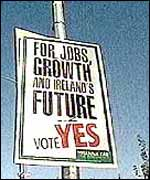 Signpost of the Yes campaign