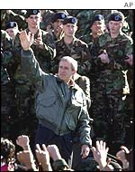 Bush addresses troops before their departure for Afghanistan