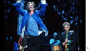 The Rolling Stones on stage in the US
