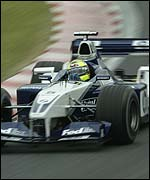Ralf Schumacher in the Williams-BMW at Suzuka