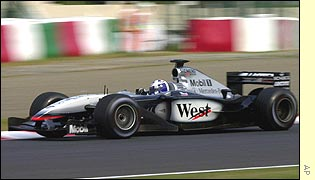 David Coulthard in the McLaren at the Japanese Grand Prix