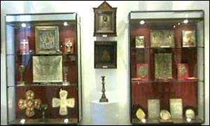 Items from the collection on display in Dnipropetrovsk