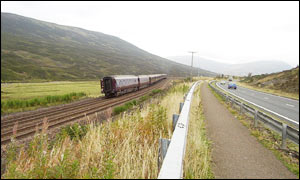 A9 and rail line at the centre of Scotland