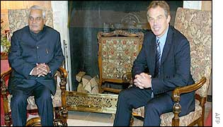 Atal Behari Vajpayee and Tony Blair