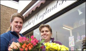 Tracy Gardiner (left) and Sue Power at Centre of England Florist