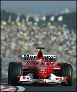 Michael Schumacher at Suzuka