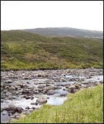 A small brook at the centre of Scotland