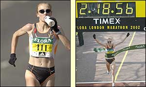 Radcliffe's winning time in London was two hours, 18 minutes and 55 seconds - the fastest ever by a woman in a women-only field