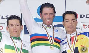 Australian Robbie McEwen and Germany's Erik Zabel were joint favourites before the race but were beaten by Cipollini