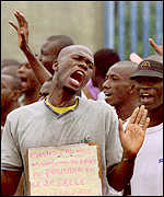 Civilians protestors in Ivory Coast