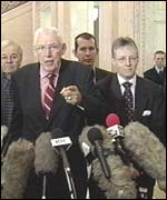 DUP's Ian Paisley and Peter Robinson