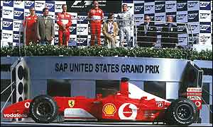 The podium ceremony after the US Grand Prix