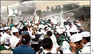 Islamic Defenders Front protests in Jakarta