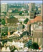 Skyline of Danzig (present-day Gdansk)