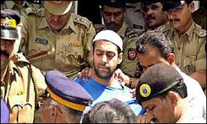 Salman Khan (in white cap) under tight security