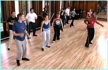The group have their first dance class together